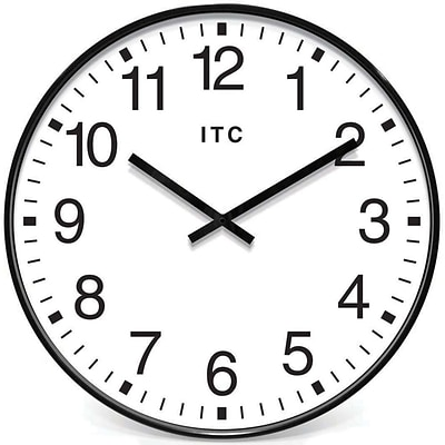 Infinity Instruments Profuse Office Wall Clock, Black Resin Case, 19 Diameter