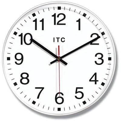 Infinity Instruments Business Prosaic Office Wall Clock, Round, 12 Diameter