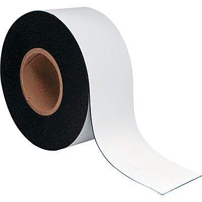 MasterVision® 3(H) x 50(L) Dry Erase Magnetic Tape Roll, White, Roll