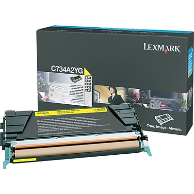 Lexmark™ Yellow Toner Cartridge, C734A2YG
