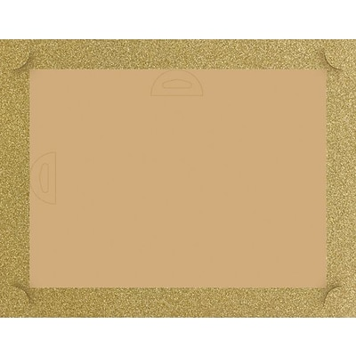 Great Papers® Masterpiece Studios Glitter Certificate Backer, Gold, 5/Pk