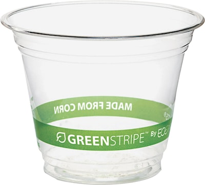 Eco-Products® Compostable Corn Plastic Cold Cup, 9 oz., Clear, 50/Pack (ECOEPCC9SGSPK)