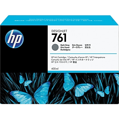 HP 761 Dark Gray Ink Cartridge, CM996A