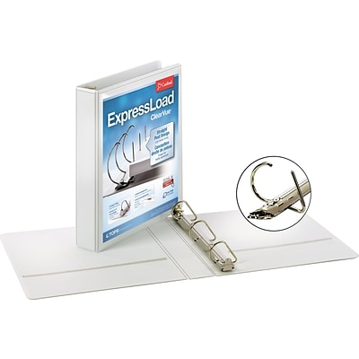 Cardinal® ExpressLoad™ ClearVue™ Binders, 1-1/2 White