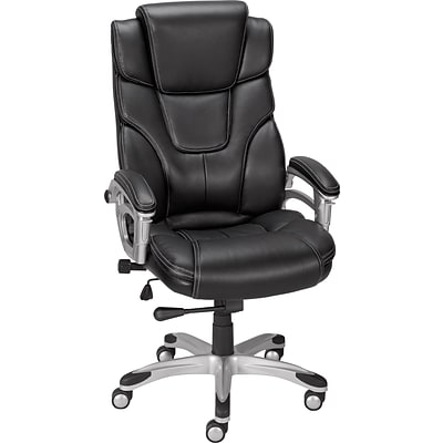 Quill Baird Bonded Leather Managers Chair, Black