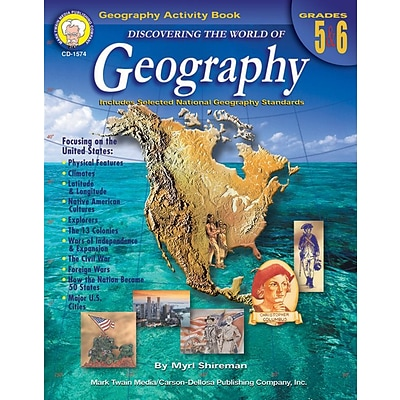 Discovering the World of Geography Resource Book, Grades 5 - 6 (1574)