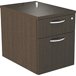 Alera® SedinaAG 2-Drawer 22D Pedestal File Cabinet, Espresso, Letter/Legal (SE551622ES)