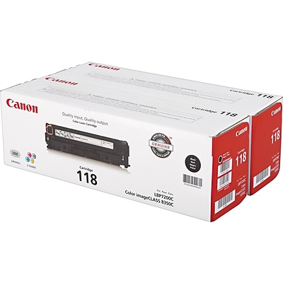 Canon 118 Black Toner Cartridges, Standard Yield, 2/Pack (2662B004)