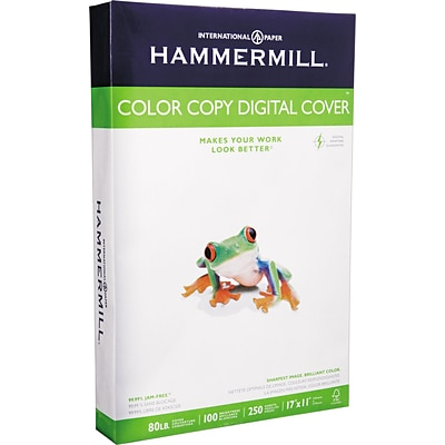 Hammermill® Color Copy Digital Cover Stock, White, 11 x 17, 250 Sheets