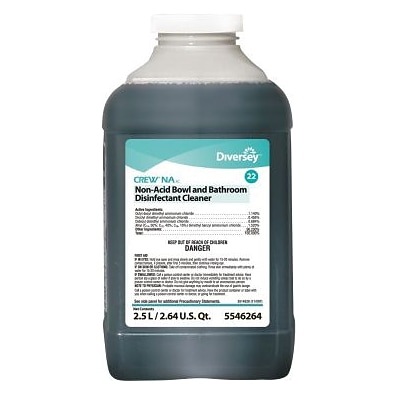 Diversey™ Crew® Restroom SC Non-Acid Disinfectant Cleaner, J-Fill®,Floral Scent, 2.5 L, 2/Ct