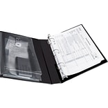 Avery Protect & Store™ View Mini Binder With Round Rings; Black, 175-Sheet Capacity, 1 (Ring Diamet