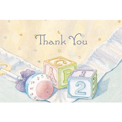 Great Papers® Baby Blocks & Quilt Thank You Note Cards, 24/Pack