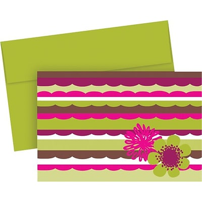 Great Papers® Organic Citrus Scallops Note Cards with Envelopes, 20/Pack