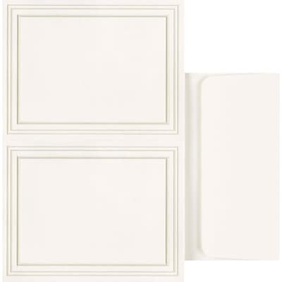 Great Papers® Triple Pearl Embossed Border Ivory 2-up Postcards with Envelopes, 50/Pack