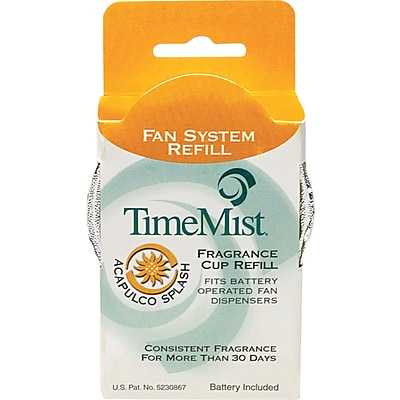 TimeMist Fan Fragrance Cup Refill, Acapulco Splash, Clear, 1 oz. Cup