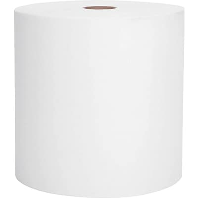 Kimberly-Clark Scott 1-Ply Recycled Hard Paper Towel Roll, White, 8(W) x 800(L)