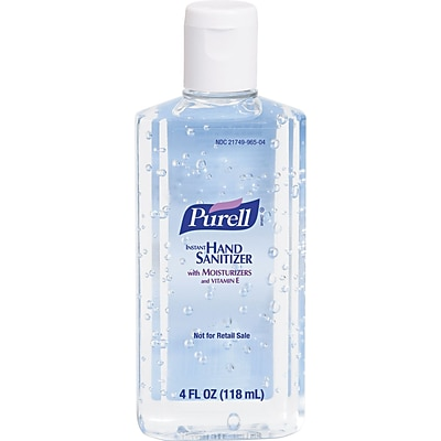 Purell® Instant Hand Sanitizer, Clear, 4 oz. Flip-Cap Bottle