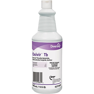 Diversey Oxivir TB One-Step Disinfectant Cleaner, 32 oz., 12/Case