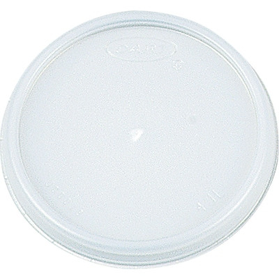 Dart® Plastic Vented Lid for 8J8 Cup, White