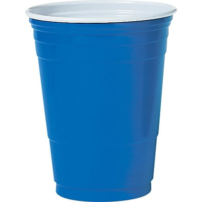 SOLO  Plastic Cold Party Cup, 16 oz., Blue, 1000/Carton