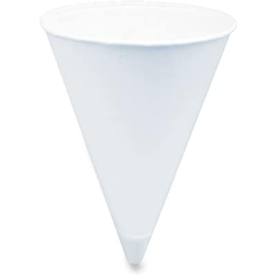 Solo ® Cone Shaped Paper Water Cup, 4 oz., White, 5000/Carton