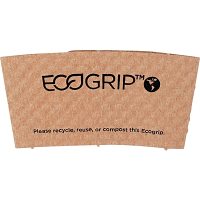 Eco-Products® EcoGrip® Recycled Content Paper Hot Cup Sleeve for 12 - 24 oz. Cups, Kraft, 1300/CTN
