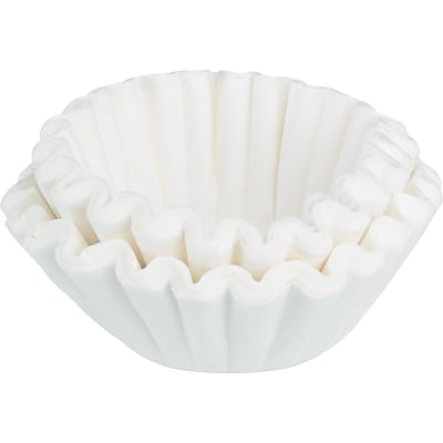 Bunn® Flat Bottom Standard Coffee Filters, Fits Most 10-12 Cup Brewers, 100/PK