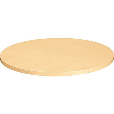 HON® Hospitality Round Tabletop, 36, Natural Maple, 1 1/8H x 36W x 36D