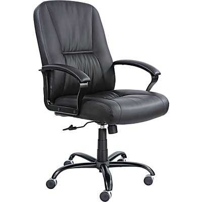 Safco® Serenity? Big And Tall High Back Genuine Leather Chair; Black