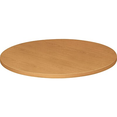 HON® Hospitality Self-Edge Tables, Round Table Top, Harvest Oak, 36