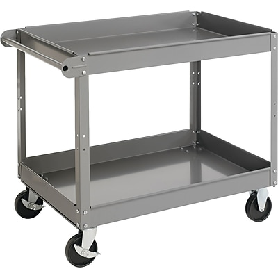 Tennsco 32H x 24W x 36D Two-Shelf Metal Cart, Gray