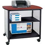 Safco® Impromptu® 31H x 34 3/4W x 25 1/2D Deluxe Machine Stand, Black/Cherry