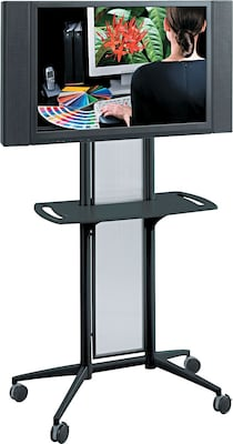 "Safco(r) Impromptu(r) 65 1/2""h X 38""w X 20""d Flat Panel Tv Cart; Black"