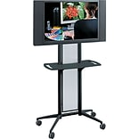 Safco® Impromptu® 65 1/2H x 38W x 20D Flat Panel TV Cart; Black
