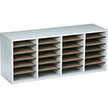 Safco 24-Shelf Grey-Finish Organizer
