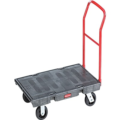 Rubbermaid® Commercial Steel Platform Truck Cart, 1000 lb. Capacity (FG443600BLA)
