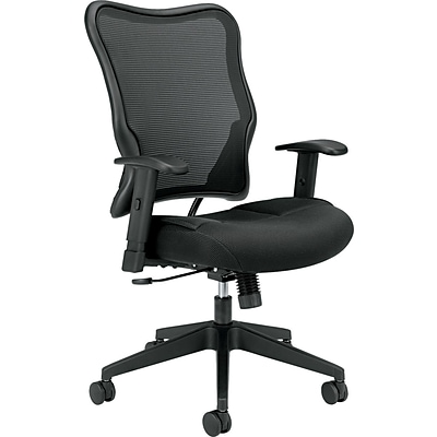 basyx by HON Mesh Work Chair, Mesh Fabric, Black, Seat: 21W x 19 3/4 D, Back: 22 7/8W x 28 3/8H