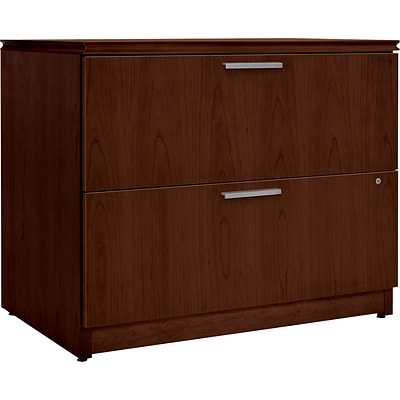 HON® Arrive 2 Drawer Lateral File Cabinet, Wood Veneer, Shaker Cherry, 36W
