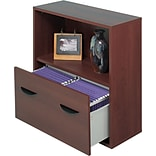 Safco® Apres Laminated Wood Collection in Mahogany Finish; 30W File Drawer Cabinet