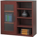 Safco® Apres Laminated Wood Collection in Mahogany Finish; 29-3/4W Single-Door Cabinet