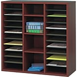 Safco® Apres Laminated Wood Collection in Mahogany Finish; 29-3/4W Literature Organizer