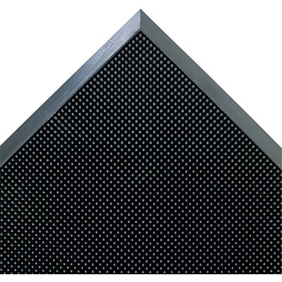 Crown Mat-A-Dor? Rubber Entrance/Scraper Mat, 32L x 24W, Black
