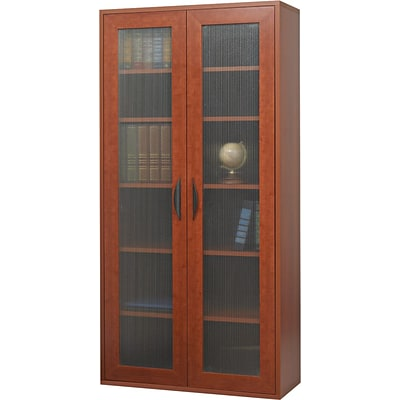 Safco® Apres Laminated Wood Collection in Cherry Finish; 29-3/4W Tall Two-Door Cabinet