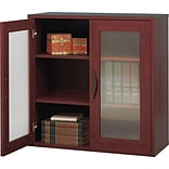 Safco® Apres Laminated Wood Collection in Mahogany Finish; 29-3/4W Two-Door Cabinet