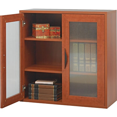 Safco® Apres Laminated Wood Collection in Cherry Finish; 29-3/4W Two-Door Cabinet