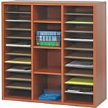 Safco® Apres Laminated Wood Collection in Cherry Finish; 29-3/4W Literature Organizer