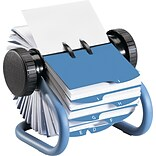 Rolodex™ 6-7/8D Open Rotary Business Card File With 24 Guides, Blue
