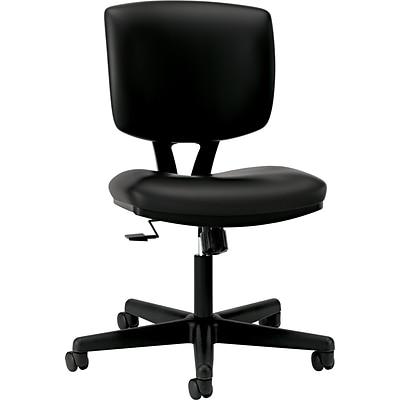HON Volt Task/Computer Chair, SofThread Leather, Black, Seat: 18 1/2W x 18 3/4D, Back: 17 1/4W x 18 3/4H NEXT2017 NEXT2Day