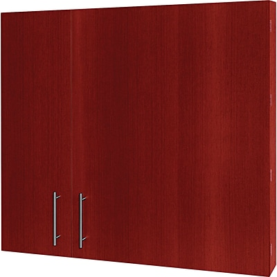 MasterVision? Conference Cabinet, 48H x 48W x 5D, Cherry Frame/White Surface