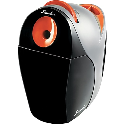 Swingline® Optima® Electric Pencil Sharpener, Black/Orange, Lifetime Warranty